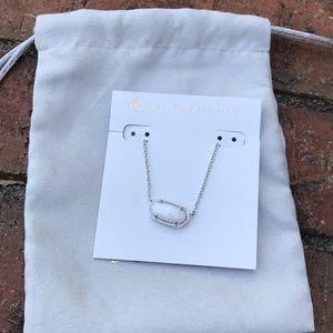 Kendra Scott Elisa White Pearl Pendant Necklace